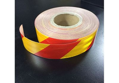 Reflective Tape Red/Yellow (Sold By The Metre) 50mm Wide
