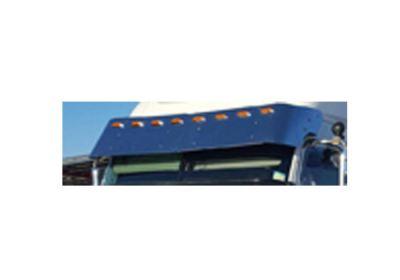 Stainless Steel Sun Visor 17 Inch To Suit  Freightliner Century, Coronado, Columbia 3 Side Mount