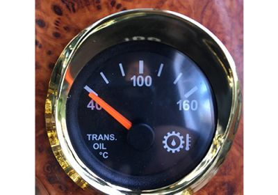 Gauge Cover Visor Small Gold  To Suit Western Star Only