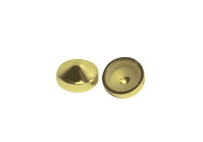 Screw Covers Snap On Pointed 14mm Gold 10 pack