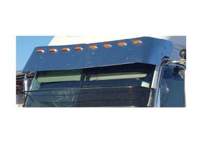 Stainless Steel Sun Visor 17 Inch To Suit  Freightliner Century, Coronado, Columbia 3 Side Mount 6 Hole