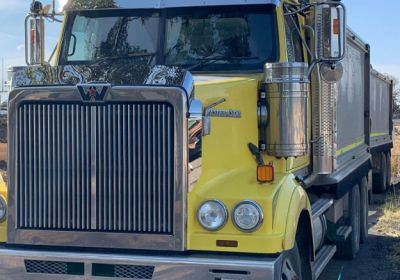 Stainless Steel Sun Visor 10 Inch To Suit Western Star Day Cab