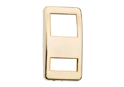 Switch Cover Gold Plain Small Hole Bottom