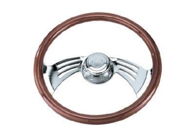 Steering Wheel 2 Spoke Wing Style Chrome