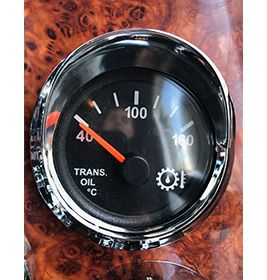 Gauge Cover Visor Small Chrome  To Suit Western Star Only