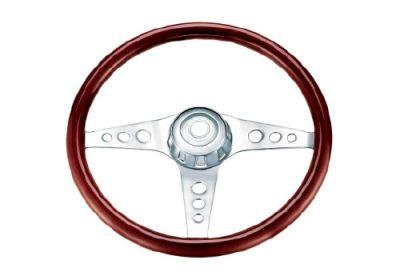 Steering Wheel 3 Spoke Classic Style Chrome