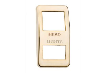 Switch Cover Gold Headlights