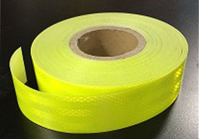 Reflective Tape Lime (Sold By The Metre) 50mm Wide