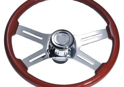 Steering Wheel 4 Spoke Straight Chrome
