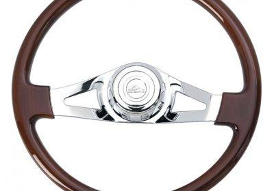 Steering Wheel 2 Spoke Straight Chrome