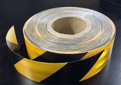 Reflective Tape Black/Yellow (Sold By The Metre) 50mm Wide