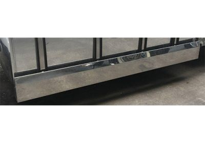 Stainless Steel Tank Skirt Square 1440 Endcap Single To Suit Kenworth/Freightliner/Iveco