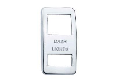 Switch Cover Chrome Dash Light