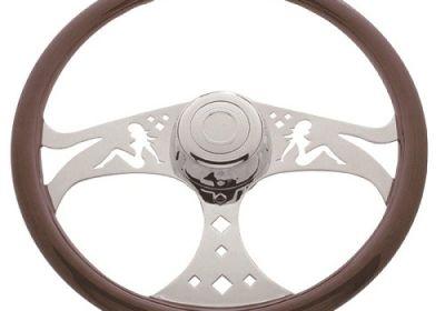 Steering Wheel 3 Spoke Girls Chrome
