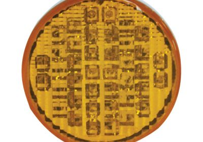 LED Multi Volt 4 Inch Round Amber Indicator