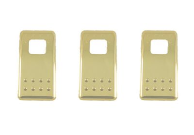 Switch Cover Rocker Gold To Suit Kenworth Pre 08 3 Pack
